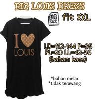 Big Louis Dress XXL Terusan Wanita Nyantai Santai Big jumbo
