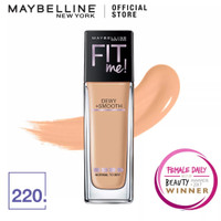 maybelline fit me dewy + smooth foundation 220 - pink - dewy 130