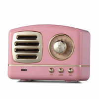 Speaker Bluetooth Classic Klasik Wireless Warna Pink Lucu Mirip JBL GO