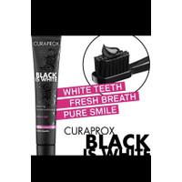 Curaprox Black is White pasta gigi keseharan toothpaste made in swis
