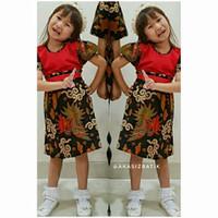 Marina - Dress Batik Gaun Anak Perempuan - S