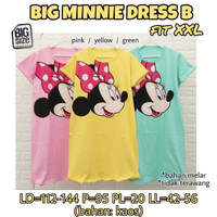 Big Minnie Dress B Baju Terusan Wanita bigsize Jumbo Rumahan