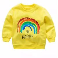 BAJU SWEATER ANAK I'M Happy 1 - 8 Tahun Baju Kaos Sweater/Jaket Anak