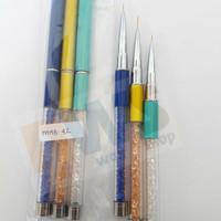 Nail Art Brush Set MHB-42 / Kuas Nail Art Set / Liner Brush / Nailart