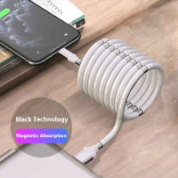 Magnetic Absorption Nano Usb Cable Kabel Fast Charger Charging Data