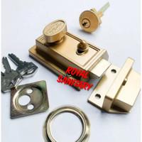 Kunci Otomatis Rim night Latch Antik-Kunci pintu lock door model dulu