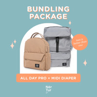 [PROMO] Tas Bayi Modular & Cooler Bag NerTur Midi Diaper & All Day Pro