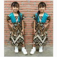 Mahadewi Parang Broklat - Dress Batik Anak Perempuan Sogan - S