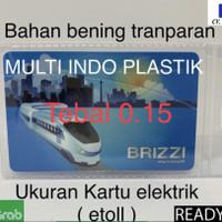 Sampul etoll bening/plastik etoll transparan/kantong id card/nametag