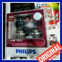 Bohlam Lampu Utama PHILIPS H4 X-treme Xtreme Vision Plus 130% 12V