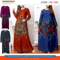 Baju Gamis wanita jumbo / baju gamis terbaru/ baju gamis kaos murah