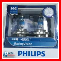 Bohlam Lampu Utama PHILIPS H4 Racing Vision Plus 150% 12V 60/55W