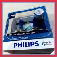 Bohlam Lampu Utama Putih PHILIPS H4 Diamond Vision 12V 60/55W 5000K
