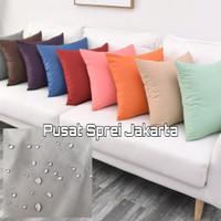 Pelindung Bantal sofa anti tungau/anti bakteri/anti air 35cmX35cm