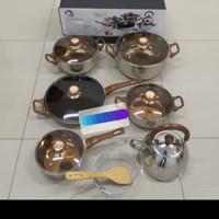 Panci set Oxone OX-933 eco cookware set stainless stel