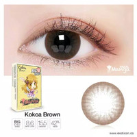 SOFTLENS X2 SHIN MANGA KOKOA BROWN BIG EEYES 15.50MM - Cokelat