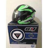 Helm GM Gard Hitam Hijau Fighter SR Series Black Green