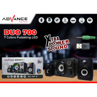 speaker bluetooth advance duo 700/ duo700 speaker laptop komputer