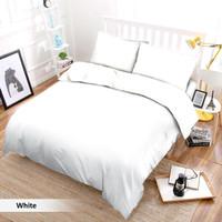 Bedcover Aja TANPA SPREI Polos Vito Putih 210x220 cm