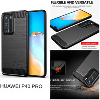 Casing Softcase Carbon Huawei P40 Pro Soft Back Case