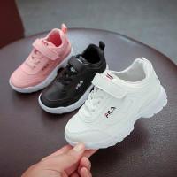 Sepatu sneakers anak laki-laki perempuan FILA putih pink hitam sekolah