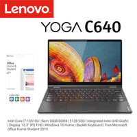 Lenovo Yoga C640 CI7-10510U 16GB 512GB SSD 13.3FHD Touch Free Office