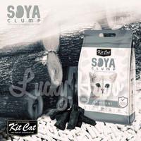 Pasir Gumpal Kucing Import No Dust/Kit Cat Soya Clump 7L Charcoal