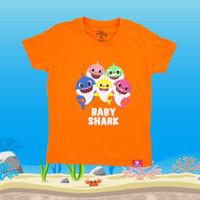 Kaos Anak Original Baby Shark Pingfong Usia 2-4 Tahun - Orange