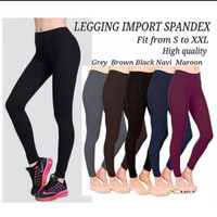 Celana Leging senam/yoga/Olahraga wanita Hitam