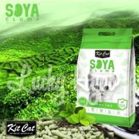 Pasir Gumpal Kucing Import No Dust/Kit Cat Soya Clump 7L Green Tea