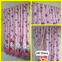 Gorden Hello Kitty Smokering Pink 130x220cm Terbaru