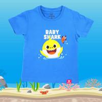 Kaos Anak Original Baby Shark Pingfong Usia 2-4 Tahun - Biru Muda