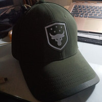 Under Armour Project Rock Threadborne Hat (Hijau / Putih) UA WWE Bull