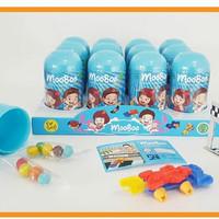 MooBoo Surprise Egg Capsule For Boys (Blue) // mainan goodie bag murah