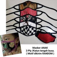 Masker Anak 3 Lapis Bahan Aman dan Nyaman Dipakai