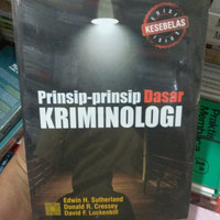 Prinsip Prinsip Dasar Kriminologi