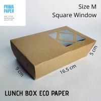 Paper Lunch Box Size M / Kotak Nasi / Square Window