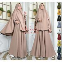 Gamis syari Darul Muqamah busui uk S-XXL by Vittela Fashion terlaris - Army, S