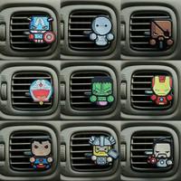 Parfum Pewangi Mobil Hiasan Superhero / Marvel / DC / Avenger - Tempel