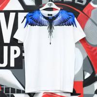 Marcelo Burlon Wings Blue White Tee 100% Authentic