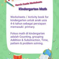 worksheet busy book buku edukasi aktivitas kindergarten anak TK 4-6 th