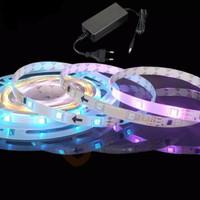 Lampu Led Strip RGB 5050 Ip44 Running Berjalan set Adaptor Warna Warni