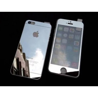TEMPERED GLASS MIRROR IPHONE 6 PLUS SET FRONT BACK (SILVER)