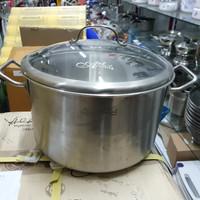 Panci Sauce Pot D26cm Zebra Estio Pro w/Glass Lid, SUS304,ThailandMade