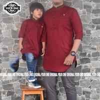 baju gamis koko pakistan couple anak dan ayah warna putih