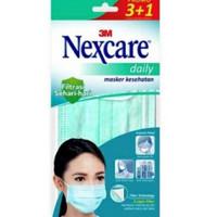 Masker Nexcare 3M Mulut Hidung Mask Anti Bakteri Bacteria