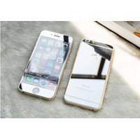 TEMPERED GLASS MIRROR IPHONE 6 SET FRONT BACK (SILVER)