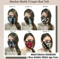Masker Batik 3 Lapis /Masker Earloop & Headloop 3 Ply