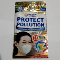 Masker Unicharm Protect Pollution 3D Mask 2 pcs