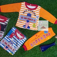 Baju Bayi Laki-laki bahan katun motif Pesawat 0-8 bulan